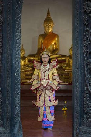 portrait women in myanmar traditional costumes