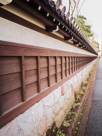 meditaion: korakuen old wall on street Stock Photo