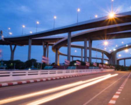 bhumibol: twilight Bhumibol Bridge (Bangkok,Thailand) blur background