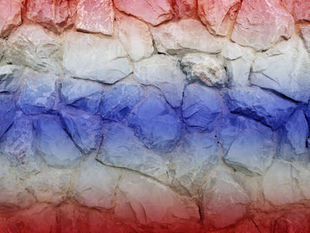 aec: Thailand double exposure stone wall and aec asian flag