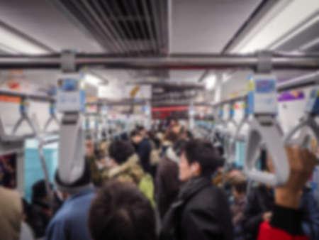 blur subway: train subway in rush hour on blur background