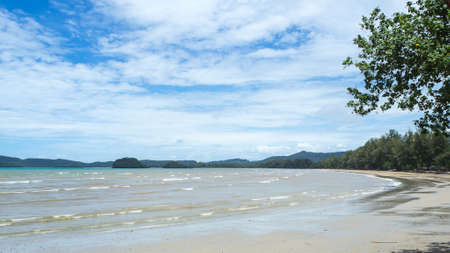 railay: Thailand, Railay beach at Krabi on blue sky and cloudy