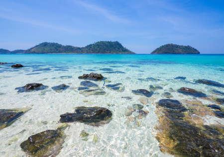 ko: Ko khai, Satun: beautiful beach in thailand, andaman sea Stock Photo