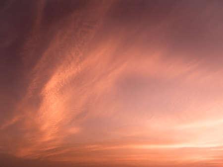 red sky: Dramatic cloud sunset orange tone Stock Photo
