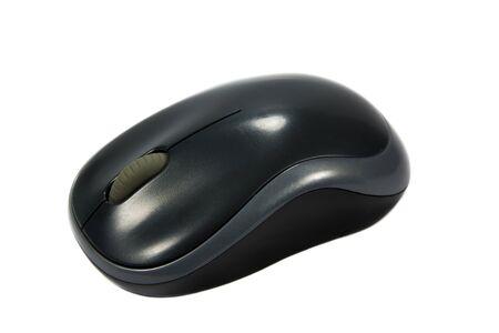 mouse pad: black computer mouse