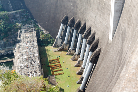 hydro electric power station: The power station at the Bhumibol Dam in Thailand