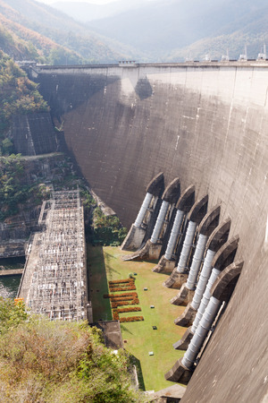 famous industries: The power station at the Bhumibol Dam in Thailand