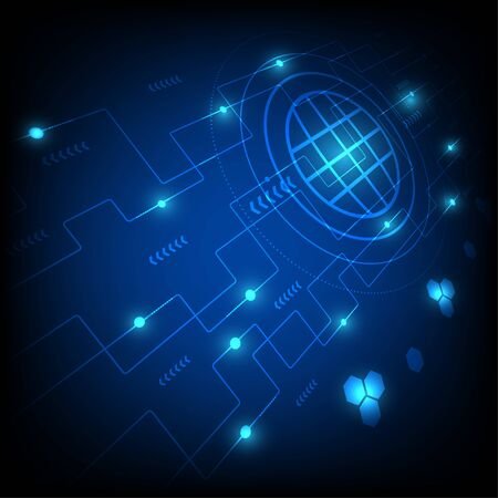 Abstract technology background concept science vector. Vetores