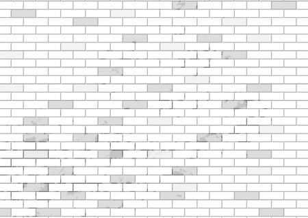 White brick old wall is texture vector for use wallpaper. Abstract pattern stonewall background.
