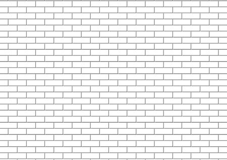 White brick wall is texture vector for use wallpaper. Abstract pattern stonewall background. Vector Illustratie