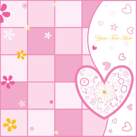 postcard background: love postcard Illustration