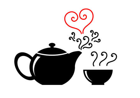 love teapot Vector