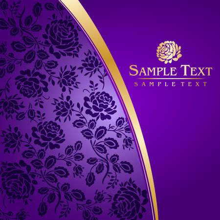 golden border: Violet postcard
