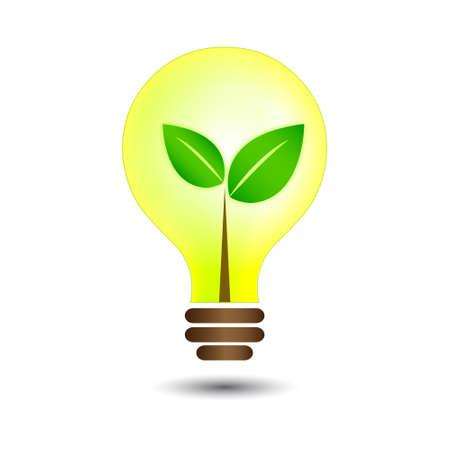 alternative energy source: nature bulb