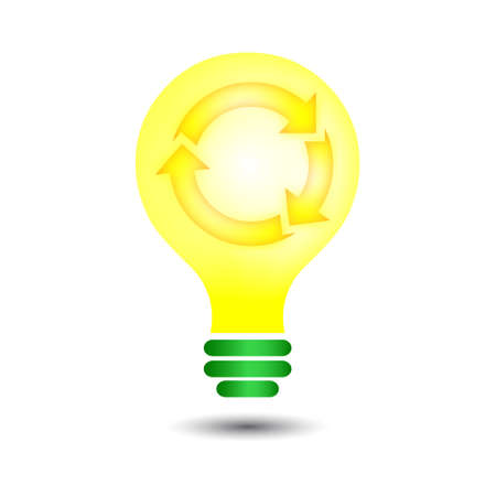 recycle bulb Vector
