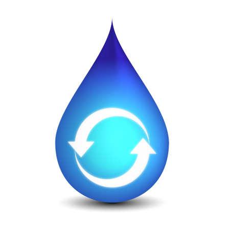 消費: きれいなリサイクル水  イラスト・ベクター素材