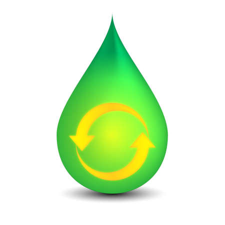 green drop Illustration