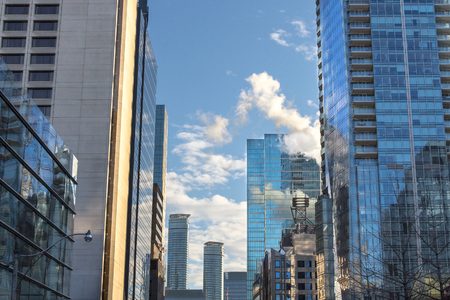 Newly built skyscrapers in downtown Toronto, Ontario, Canada Stock Photo