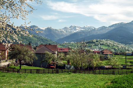 Village of Plav, in Montenegro, at the Albanian border, in the middle of the Balkan mountain chains