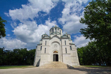 serb: Oplenac Mausoleum in Topola, Serbia. Yugoslav kings of the Karadjordjevic dynasty