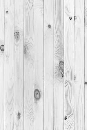 Close-up view of natural structure wooden plank monochrome background. Flat lay vintage black and white photo, textured effect. Stockfoto