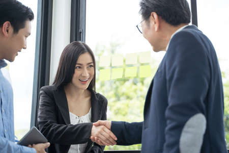 Business people shaking hands. concept business