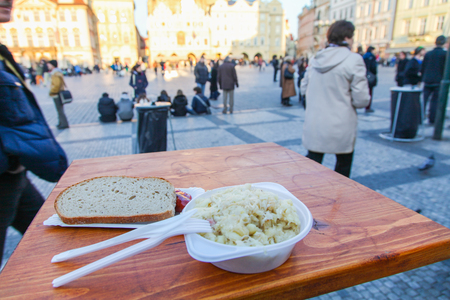 snack time: snack time with square view at prague