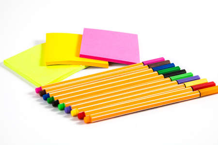 defamation: Colorful pen and sticky note