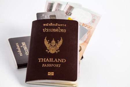 Passport ,Money, Card ready to travel photo