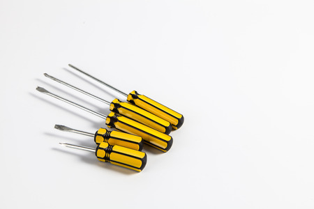 Set of screwdrivers isolate on white background photo