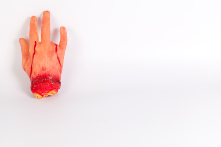 icky: masquerade Halloween horror spoof Funny Tricky props entire toy hand amputation in the number of blood