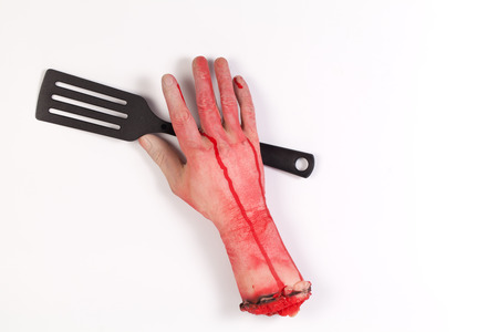 icky: Zombie Hand with spatula ,flipper ,spade of frying pan