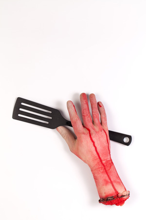 flipper: Zombie Hand with spatula ,flipper ,spade of frying pan