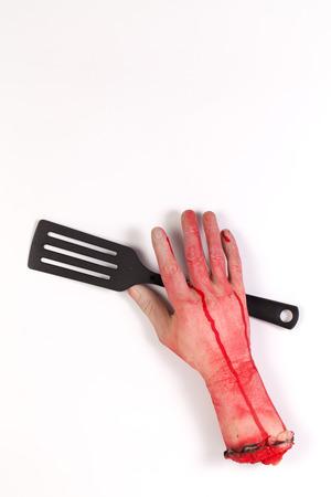 flipper: Zombie main avec une spatule, flipper, pique de po�le