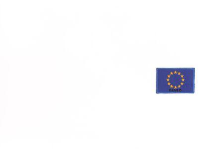 ferien: A flag of European Union on white background