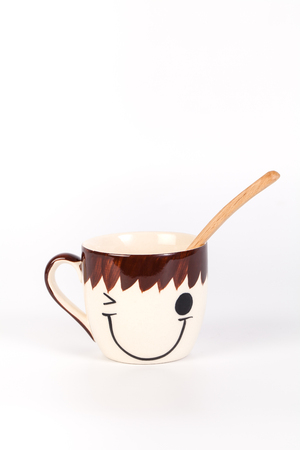 Happy cup  Concept about happiness and waiting for someone.