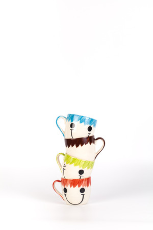 Happy cups Concept about love and relationship