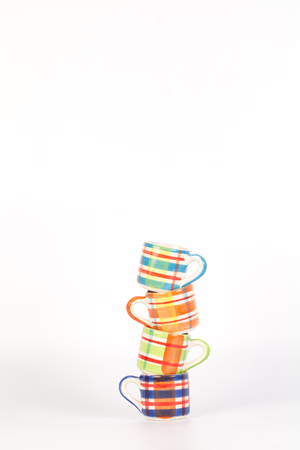 Tower of Colorful   pattern cups