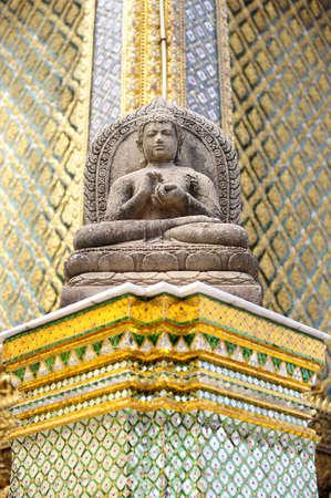 glorify: Statue of Buddha, Wat Phra Kaeo, Grand Palace, Thailand Stock Photo