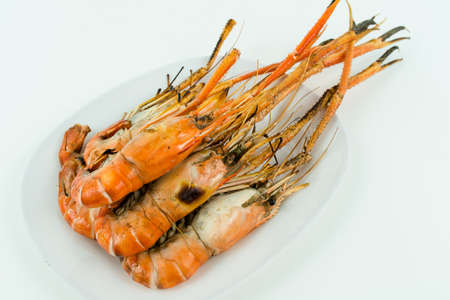 Grilled shrimp to giant freshwater prawn photo