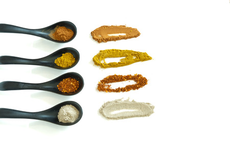 four of a kind: four kind of spices for cooking