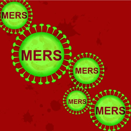 respiratory infection: MERS Cov. Illustration