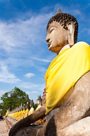 yai: Buddha stucco Wat Yai Chai Mongkol Ayutthaya