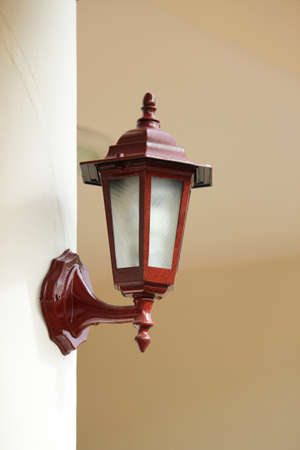 Wood lamp in home