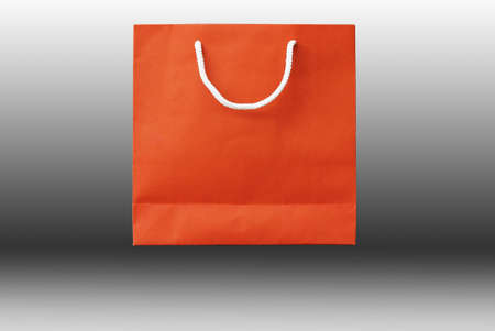 recyclable paper bag isolated on white background  Stock Photo