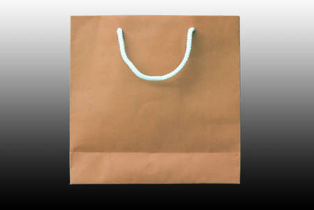 recyclable paper bag isolated on  background
