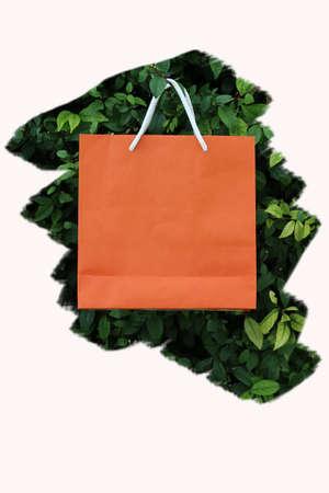 paeper bag on tree Stock Photo
