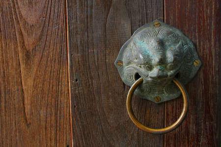 chinese door knocker Iron Stock Photo