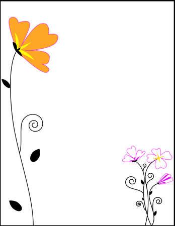 flower border frames Stock Photo - 14943146