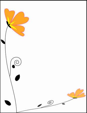borde de flores: marcos florales frontera